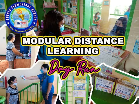 Modular Distance Learning (Dry Run) In PUERTO ES