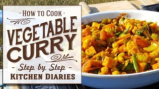 ★ How to: Cook Sweet Potato & Chickpea Vegan Curry (Kitchen Diaries Live, Homegrown Ingredients)
