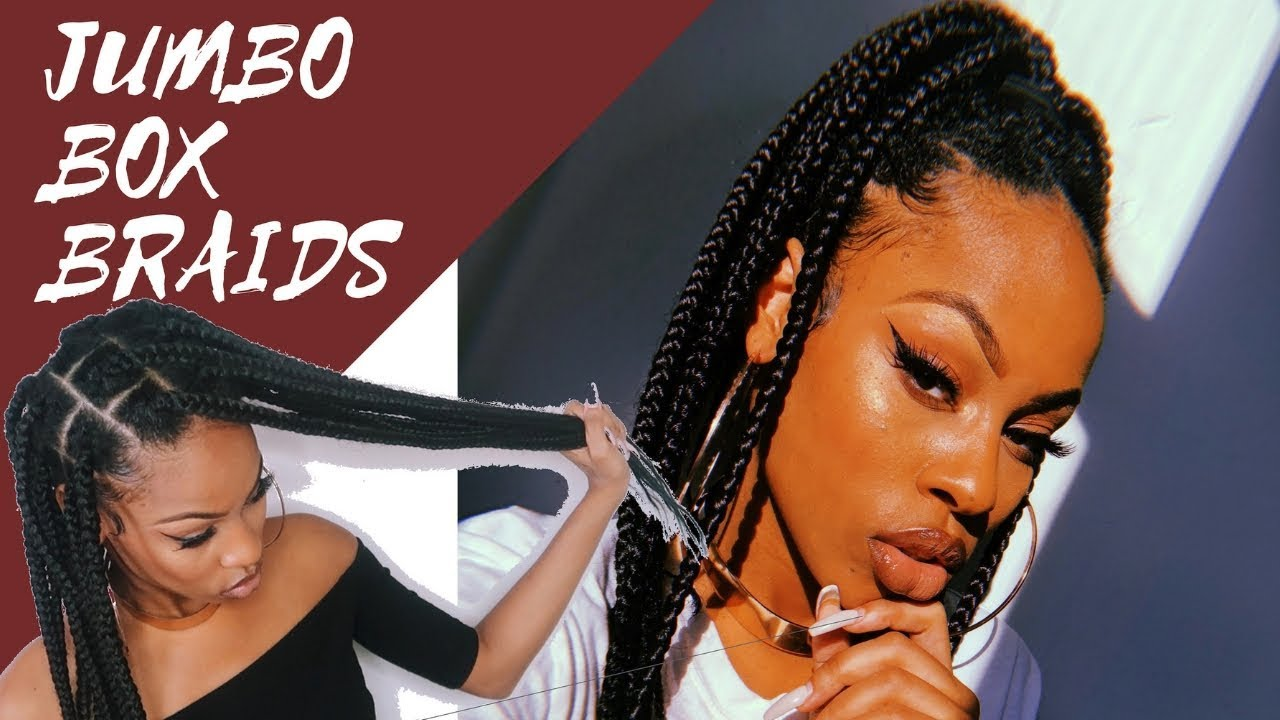 Jumbo Box Braids Knotless