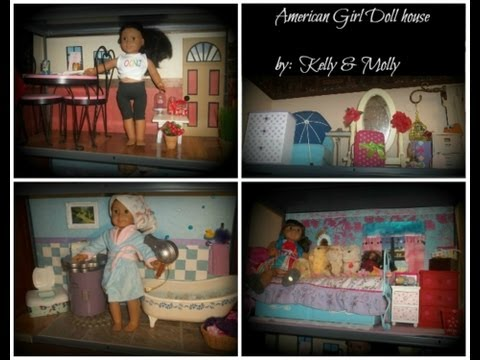 American girl handmade DIY doll house & walls & accessories by Molly