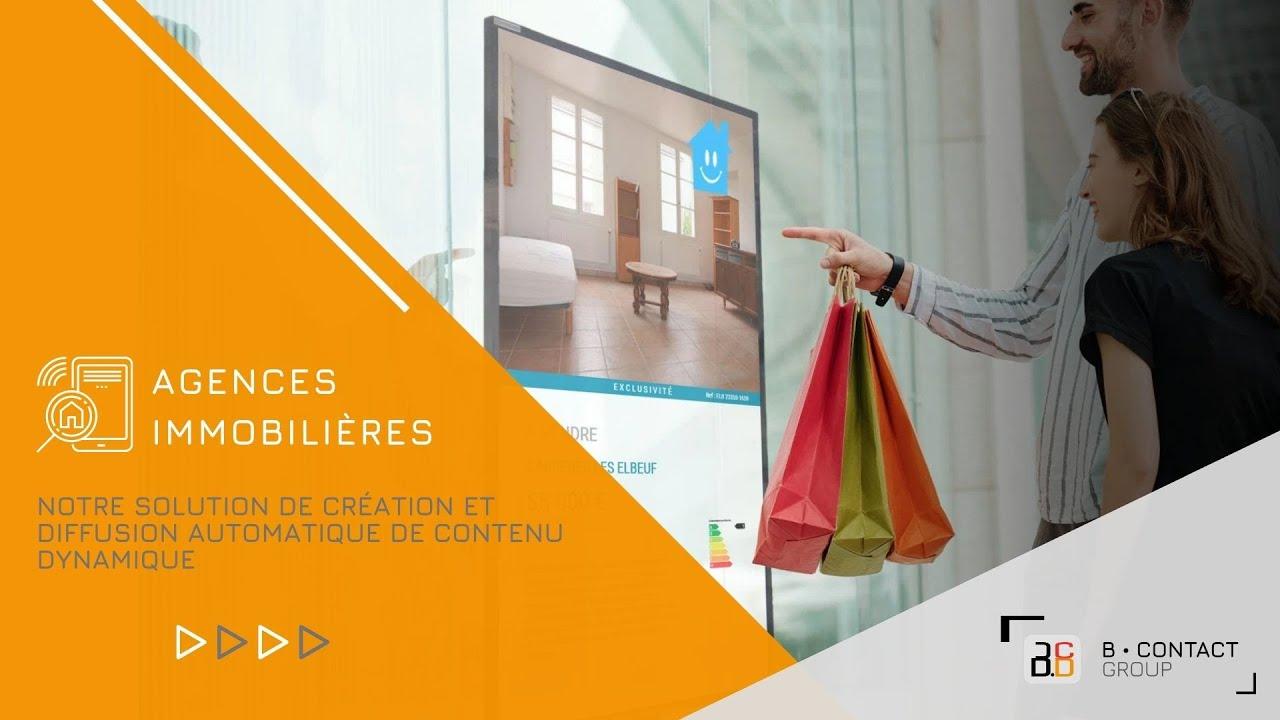 Notre solution de création et diffusion automatique de contenu pour les agences immobilières