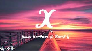 Download Lagu Jonas Brothers - X ft Karol G MP3