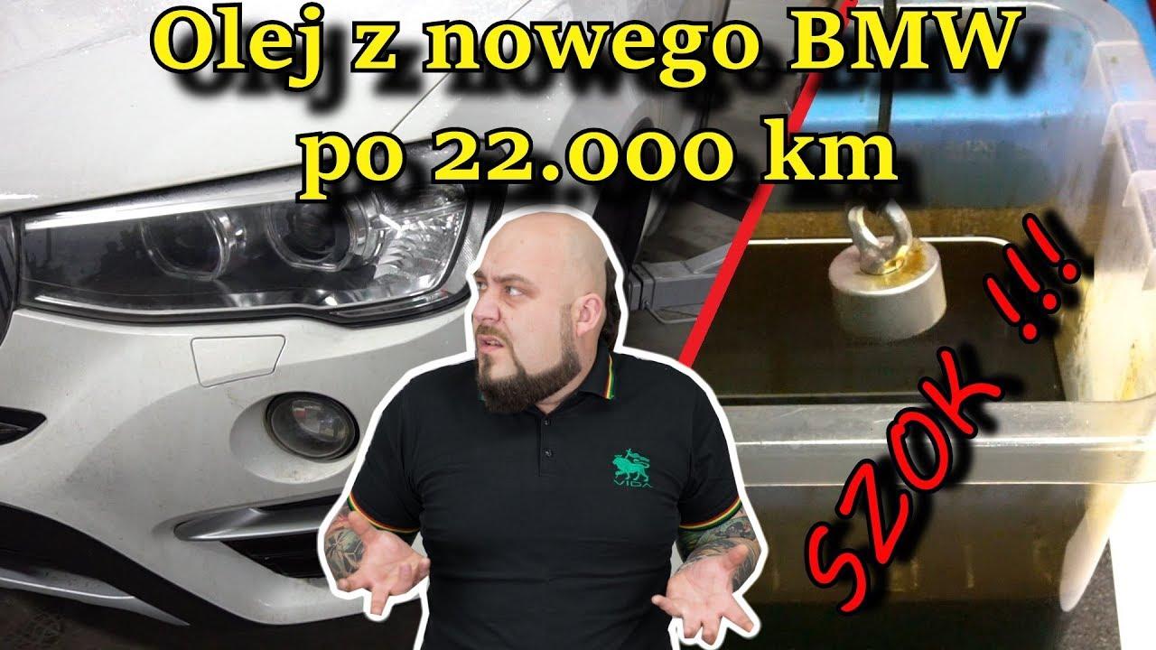 Zlewamy olej z silnika po 22 tys km.  Z nowego BMW za 250 000 zł  SZOK !!!