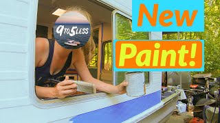 We Paint The Houseboat With Painters Tape Blue And Drive It To The Lake! Ep 10
