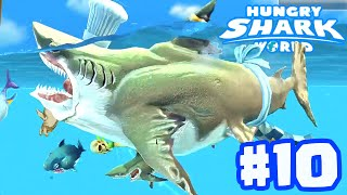 MEGALODON STRONGEST PET TEAM EVER! - Hungry Shark World Part 10 (HSW) - NEW PETS!