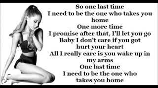 One Last Time - Ariana Grande Lyrics HD *unpitched* (My Everything Deluxe Album)