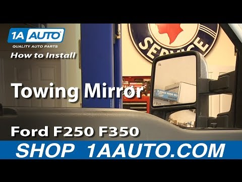 How To Install Replace Towing Mirror Ford F250 F350 Super Duty XLT