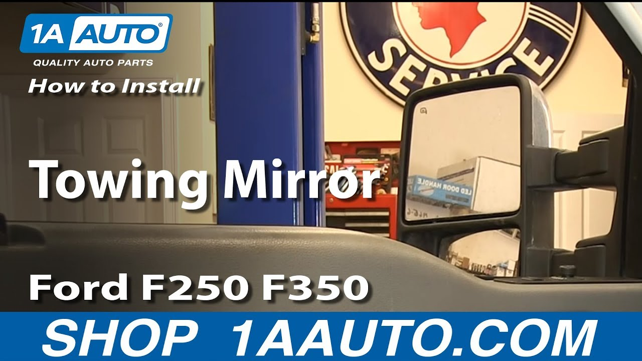 How to install replace towing mirror ford f250 f350 super duty xlt youtube