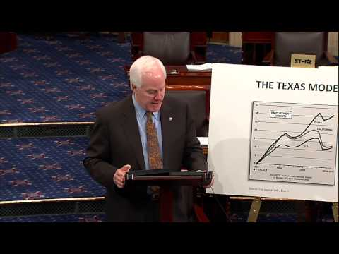 Floor Speech - Senator Cornyn on The Texas Model