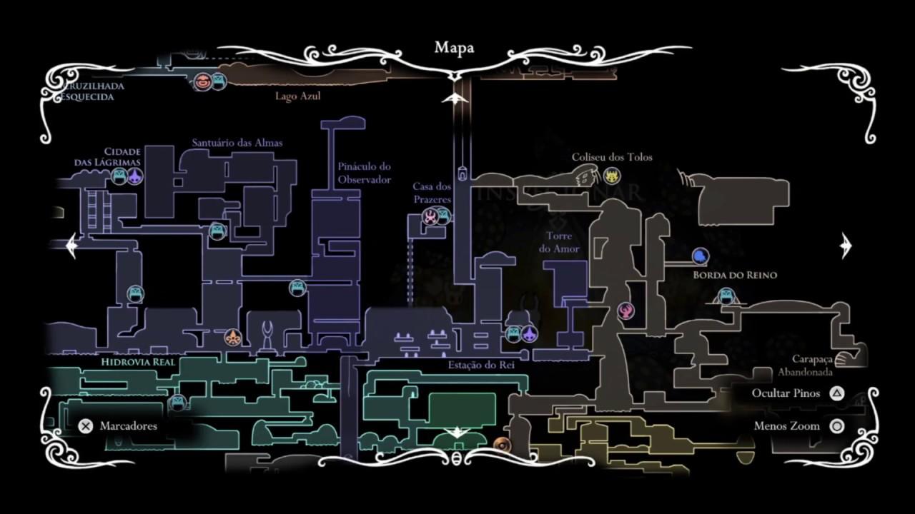 Mapa Completo Hollow Knight.Hollow Knight Trofeu Passagem Da Era Todos Coletaveis