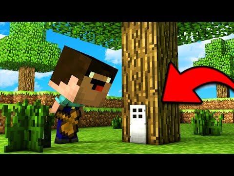 НУБ ПОСТРОИЛ СЕКРЕТНЫЙ ДОМ В ДЕРЕВЕ В Майнкрафт троллинг нуба Minecraft Мультик для детей