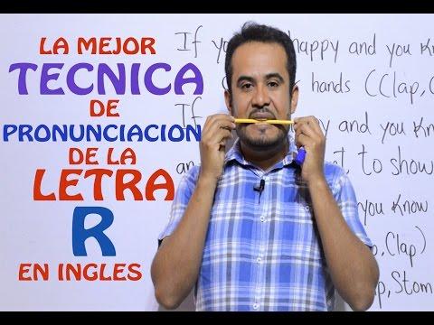PRONUNCIACION De La R en INGLES