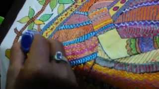 How To Do Madhuboni Painting  With Hobby's Acrylic Color With Pedilite