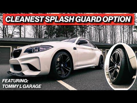 M2 CUSTOM MUD FLAPS BY TOMMY L GARAGE - BMW F87 Splash Guard Install