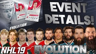 NHL 19 EVOLUTION CARDS! Two WEEK event details and breakdown!