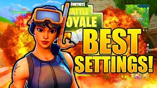 FORTNITE BEST SETTINGS PS4 XBOX ONE BEST CONSOLE SETTINGS FORTNITE BATTLE ROYALE PS4/XBOX!