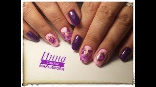 🌸 УДИВИТЕЛЬНЫЙ дизайн ногтей 🌸 РОЗЫ на ногтях 🌸 Цветы на ногтях 🌸 Дизайн ногтей гель лаком 🌸