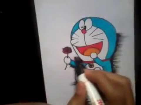 Tutorial Menggambar Doraemon 3d Youtube