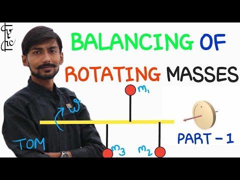 [HINDI] BALANCING OF ROTATING MASSES ~ STATIC BALANCING & DYNAMIC BALANCING ~ PART - 1