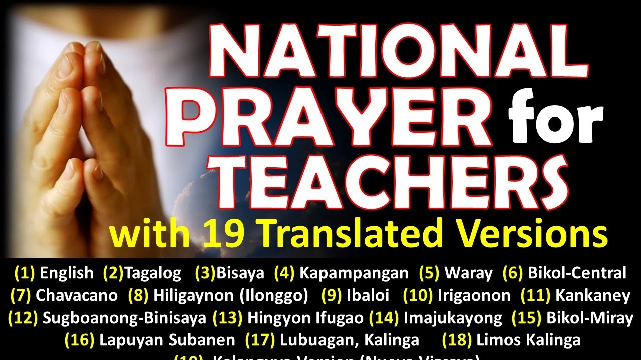 NATIONAL PRAYER FOR TEACHERS with 19 Translated Versions