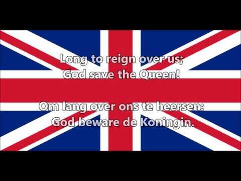 Volkslied van Verenigd Koninkrijk  National anthem of UK EN, NL tekst