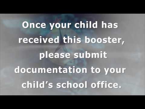 PSA- Tdap Booster Shots Requirement
