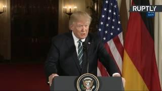 Пресс-конференция Дональда Трампа и Ангелы Меркель