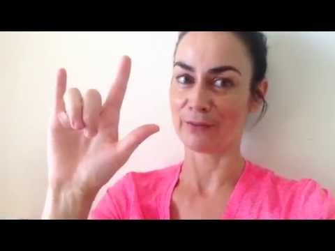 How to say 'I love you' using sign language