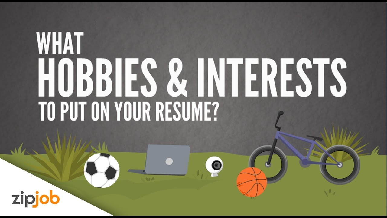 Hobbies and Interests you Need to Include on a Resume - YouTube