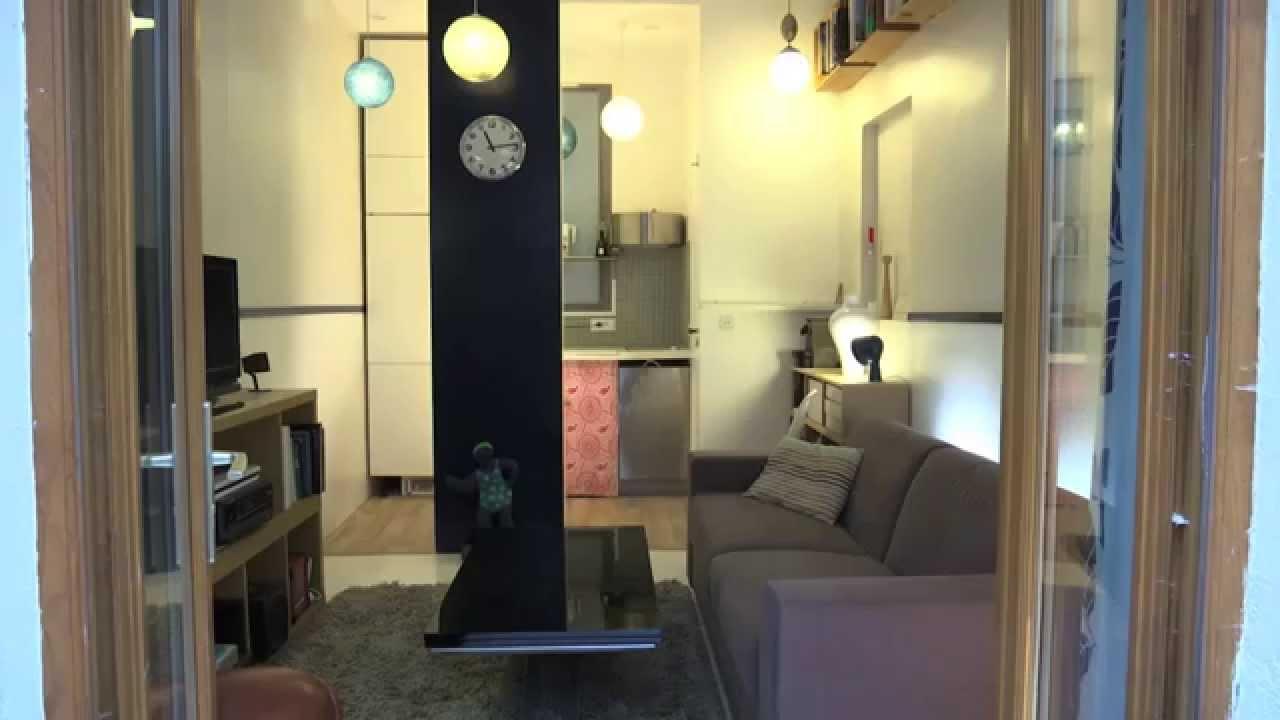 r novation d 39 une ancienne loge de concierge youtube. Black Bedroom Furniture Sets. Home Design Ideas