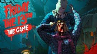 Friday the 13th: The Game - Джейсон с киркой жестоко убивает своих жертв