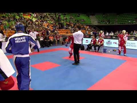 Greece 1 v Switzerland Junior Team Event WAKO European Championships 2019