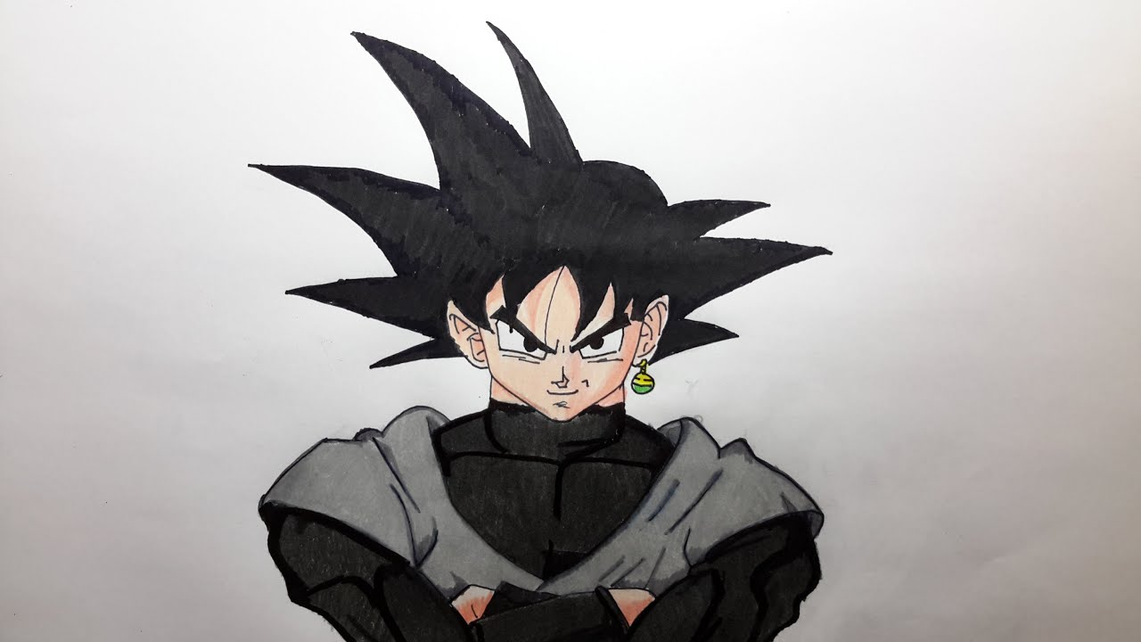 Black Goku Para Colorear: Como Dibujar A Goku Black Paso A Paso [El Dibujante]