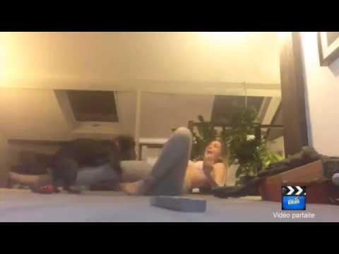 Twerking white girl and dog