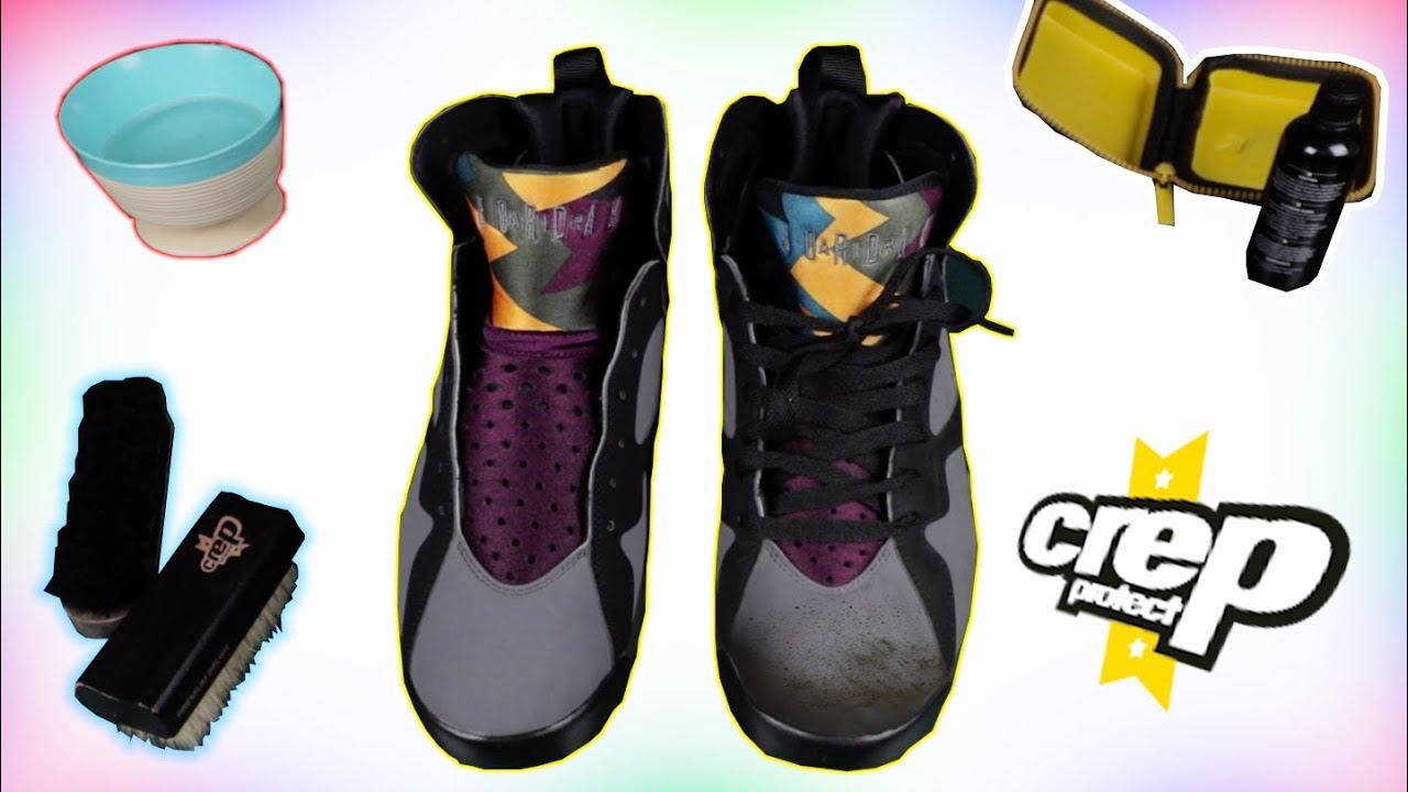 competitive price 94eca 719c9 ... How To Clean Air Jordan 7s  Cleaning Raptor 7  Suede Re Dye ...