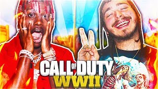 Reacting to FaZe Lil Yachty and Post Malone Playing CoD WW2 LIVE! (Rage Clips in Call of Duty WWII)