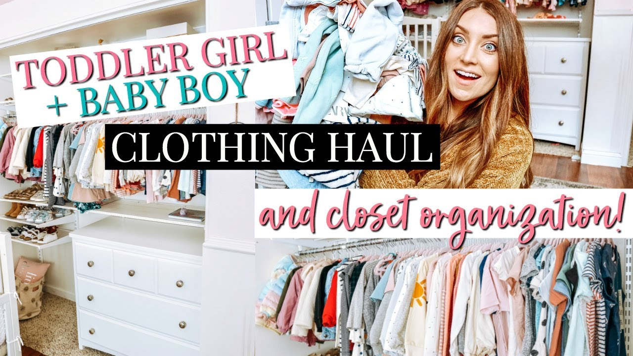 5e4a5940c TODDLER GIRL   BABY BOY CLOTHING HAUL    CLOSET ORGANIZATION ...