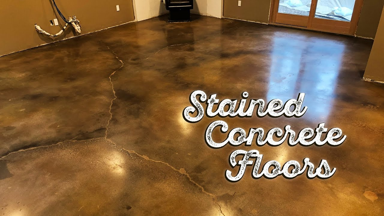 Stained Concrete Floors Youtube