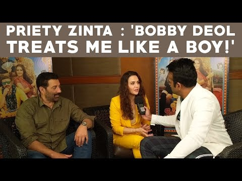 "Preity Zinta : ""Bobby Deol Treats Me Like a Boy!"""
