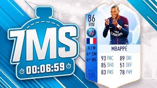 🔥 TOTGS 86 KYLIAN MBAPPE 7 MINUTE SQUAD BUILDER!! - FIFA 18 ULTIMATE TEAM