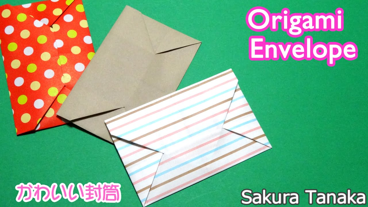 Origami Envelope 折り紙 封筒 折り方 Youtube