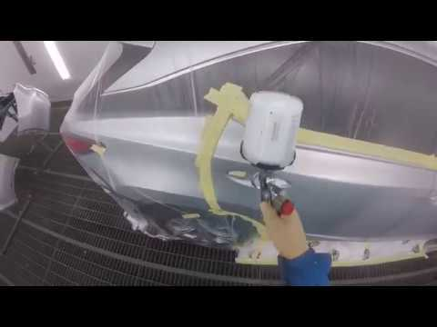 Spraying & Blending Silver Lexus. Sikkens Autowave Car Painting.