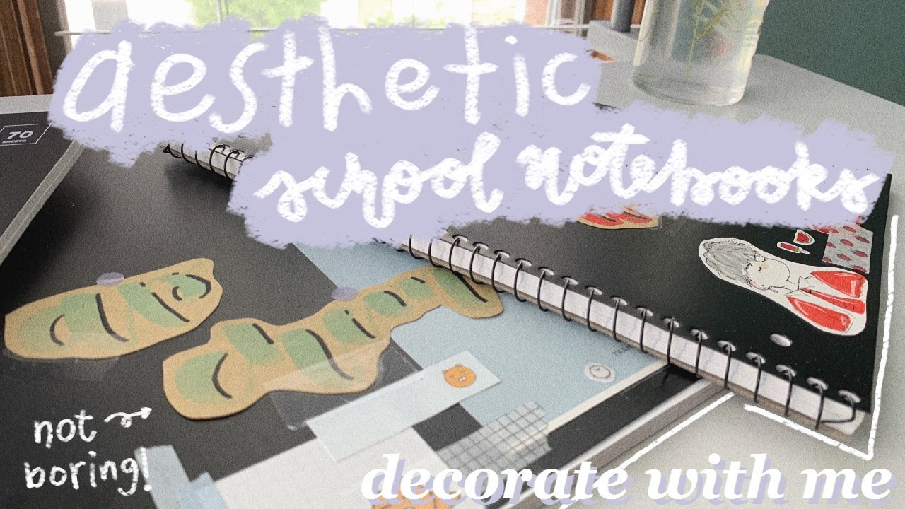 decorate my school notebooks with me + thoughts about senior year (aesthetic school supplies 2020)
