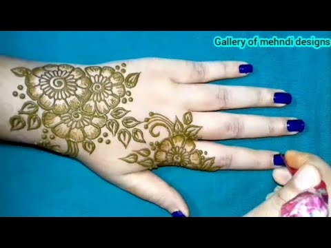 New stylish & easy floral henna mehndi design tutorial step by step ll by Gallery of mehndi designs thumbnail