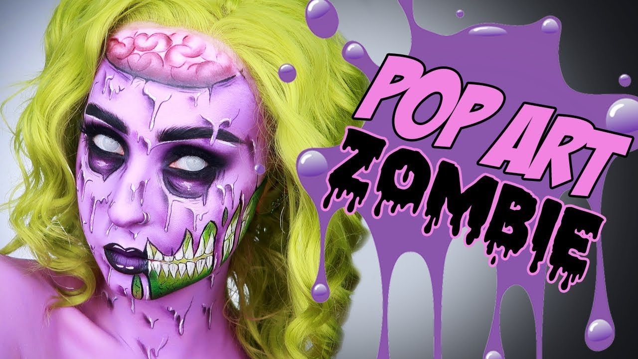 pop art zombie maquillage halloween youtube. Black Bedroom Furniture Sets. Home Design Ideas