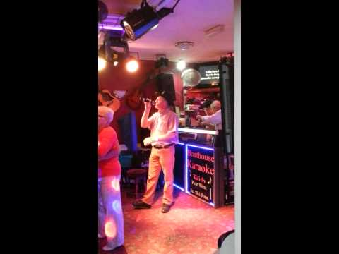 Tony doing karaoke at boathouse Skegness