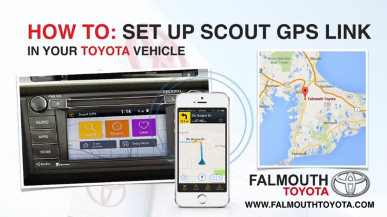 How To: Set Up Scout GPS Link In Your Toyota Vehicle Part 1 by Falmouth  Toyota of Bourne - Cape Cod