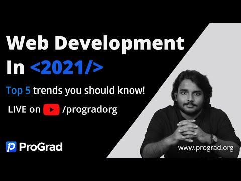 Top Technologies To Learn In 2021 | Web Development Trends | ProGrad