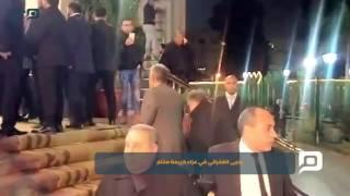 مصر العربية | يحيى الفخراني في عزاء كريمة مختار
