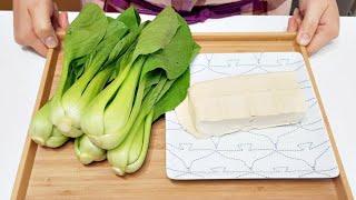 素食家常菜料理│以後豆腐就這樣吃,加一些青江菜,滑嫩入味,一上桌湯汁連一滴都不剩│Vegan Recipe │EP175